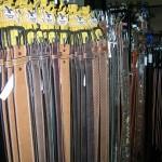 Selection of mens belts