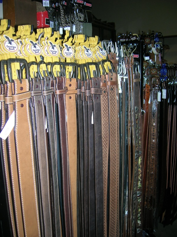 Selection of mens belts